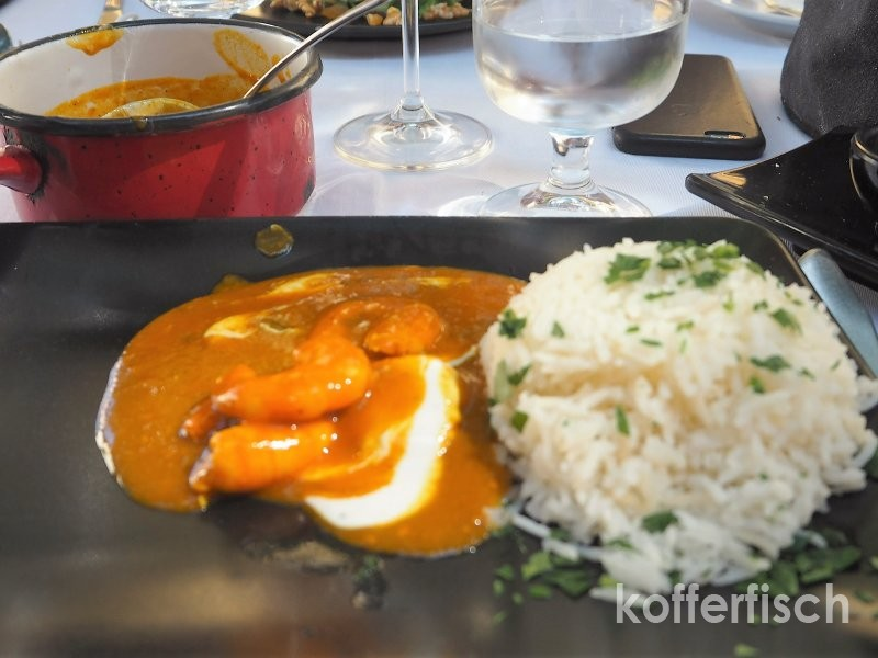 Rotes Curry mit Gambas